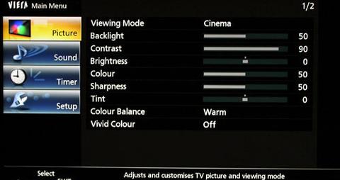 Các bước chỉnh màu tivi đơn giản2