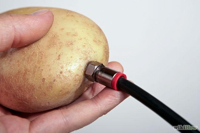 Làm anten khoai tây giúp tín hiệu tivi mạnh hơn gấp đôi4
