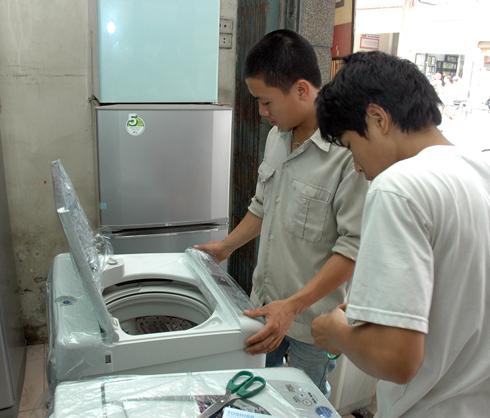 mua máy giặt cũ có tốn điện không